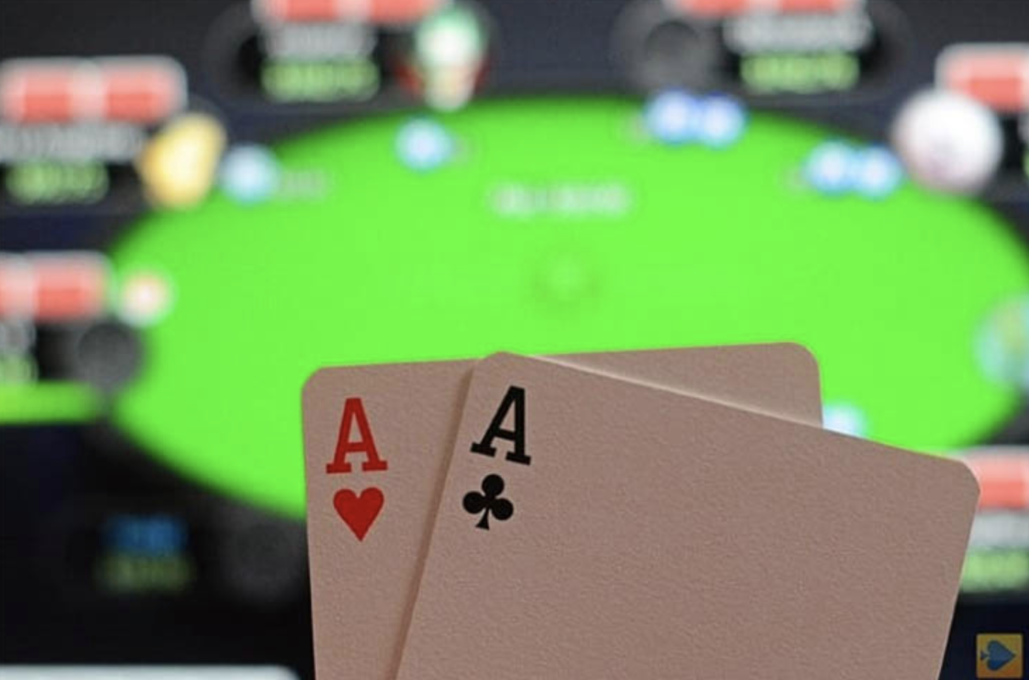 online gambling with the Poker cards