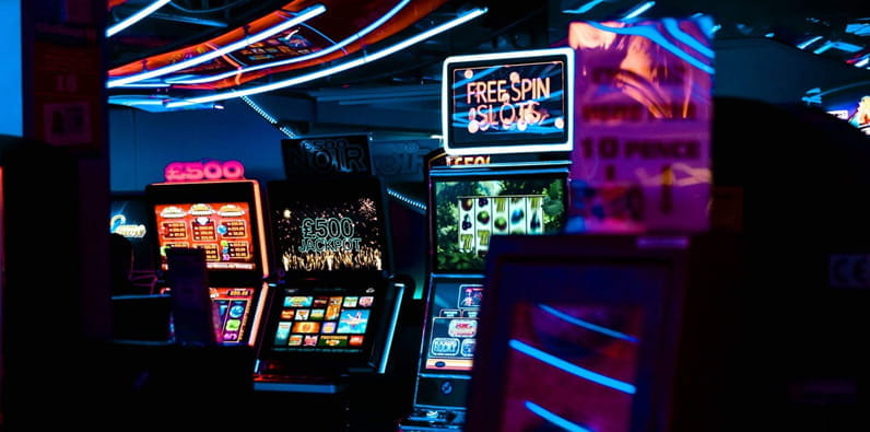 Various types of slot machines